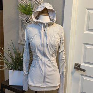 Lululemon ruched jacket 8 athletic coat mushroom
